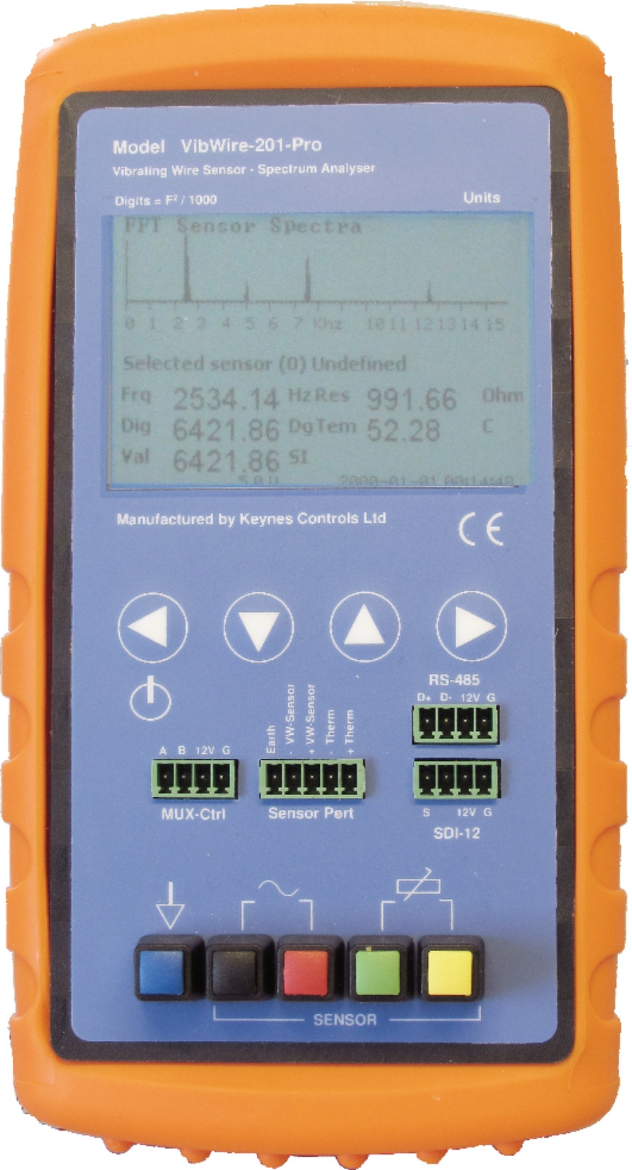 VibWire-201-Pro Vibrating Wire Spectral Analyser & Logger Unit ...
